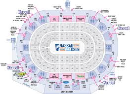 Nassau Veterans Coliseum Seating Chart New York Islanders Seating Chart Nassau Coliseum Tickpick
