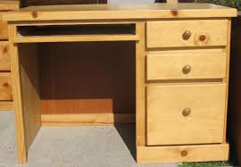 particle wood furniture. Wood Desk, 3 Drawer - Honey Stained 42w X 20d 30h Particle Furniture 5