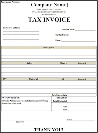Free Tax Invoice Template Word