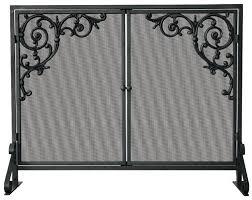 single panel fireplace screen gold small black single panel fireplace screen