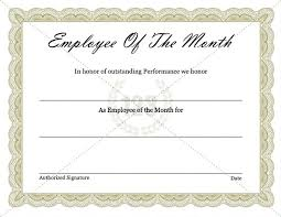 Employee Of The Year Certificate Template Free Best Employee Award Certificate Template Chanceinc Co