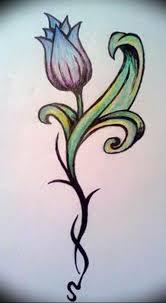 фото эскизы тюльпанов тату 06042019 001 Sketches Of Tulips