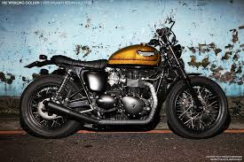 whirling golden triumph bonneville return of the cafe racers