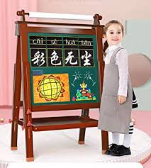 GAOLEI <b>Wooden</b> Dust-free <b>Children's</b> Drawing Board <b>Double</b>-sided ...