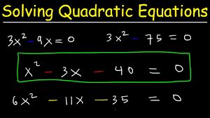how to solve quadratic equations by factoring algebra introduction