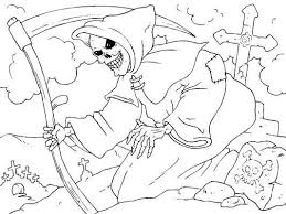 Small Picture Scary Halloween Skulls Coloring Coloring Pages