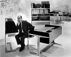 george nelson and action office 1 promotional photograph by herman miller ca 1964 action office desk george