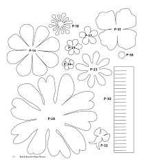 Pattern For Paper Flower Templates