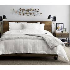 atwood bed without bookcase footboard the atwood queen bed is a crate and barrel exclusive