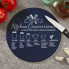 kitchen conversions personalized glass cutting boards 20465