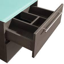 24 Inch Sink Cabinet Amare 24 Gray Oak Wall Mounted Bathroom Vanity Set With Vessel Sink