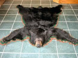 black bear rug rugs real skin for