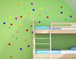 child s polka dot wall sticker set