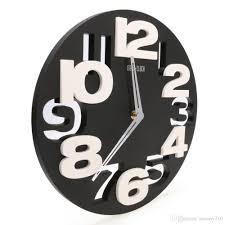 whole rounds wall clock modern design 3d big digit modern contemporary home decor wall clock black kitchen wall clocks black large wall clocks from