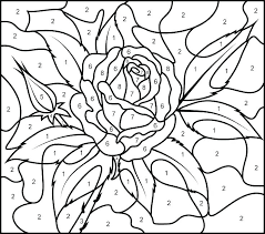 Color By Numbers Pages Coloring Pages Free Color By Number For