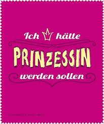 Lustiges Brillenputztuch Mit Spruch Prinzessin