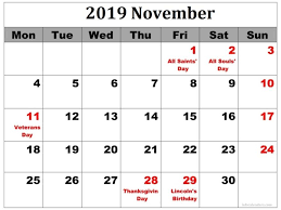 November November Calendar November 2019 Printable Calendar With Time Slots