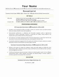 Resume Samples For Receptionist Secretary Best Of Receptionist