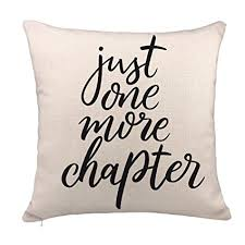 Pillow Quotes Cool Amazon Just One More Chapter Throw Pillow Case Book Lover