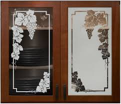 etched frost glass cabinet doors g cer leaves