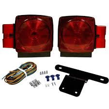 blazer international trailer lamp kit 5 1 4 in stop tail turn trailer lamp kit 5 1 4 in stop tail turn submersible square lights for under and over 80 in applications