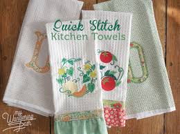 quick stitch kitchen towels my wandering path