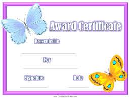 Kids Award Certificate Congratulations Certificate Award Template For Kids Templates Flyers