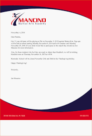 Business Letter Example With Letterhead - Soccer 5 Live