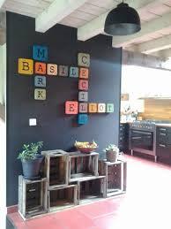 Lettres Rétros Scrabble En Bois Decoration Clae Retro Home Decor