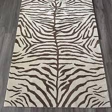 zebra area rug. Magnificent Zebra Area Rug 8×10 Pottery Barn 5 X 8 Handtufted Wool Ivory Espresso B