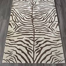 magnificent zebra area rug 8 10 pottery barn 5 x 8 zebra handtufted wool rug