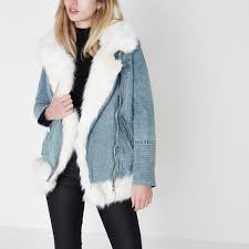 gallery previously sold at river island women s adrienne landau fur vest