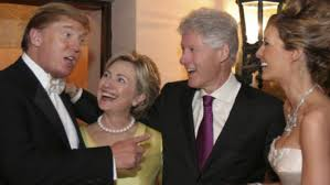 Image result for image of clinton trump