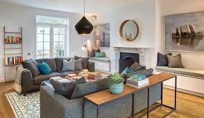 another option is to use a console table and to treat it as a display area