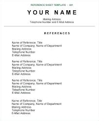 Reference Page For Resume Template Best Resume Template With References Sample References Page Resume