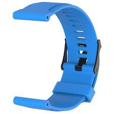 Suunto Traverse/CORE Brushed Steel Sports <b>Silicone Bracelet</b> ...