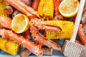 seafood boil recipe couple in the kitchen