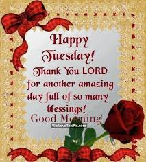 Good Morning And Thank You Quotes Best Of Happy Tuesday Thank You Lord For Another Amazing Day Good Morning