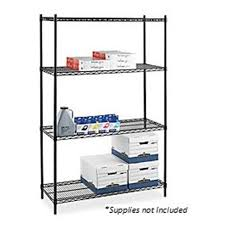 industrial wire shelving starter unit 6 ft x 4 ft x 2 ft black 1226471 lorell 968022