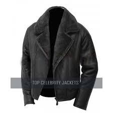 new men superb inside fur handmade leather jacket