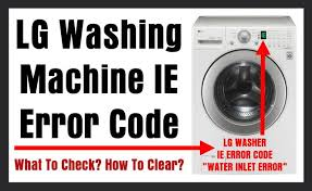 lg washing machine ie error code what to check? how to clear? LG Mini Split at Lg 3 Wire Harness Mini Sit