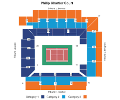 Philippe Chatrier Seating Chart Sports Events 365 Day 1 France Vs Czech Republic Court