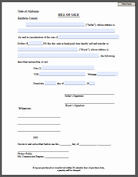 Free Forms Bill Of Sale 30 Printable Bill Of Sale Form Tate Publishing News