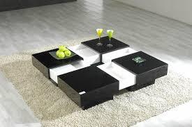 Elegant Italian Modern Square Coffee Table Photo