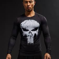 punisher 3d printed t shirts men pression shirts long sleeve cosplay costume crossfit fitness clothing tops male black friday