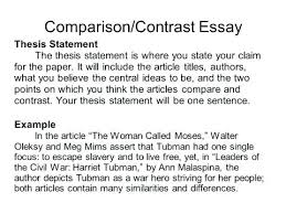 example of a compare contrast essay ideas for compare contrast essay thesis stunning example statement