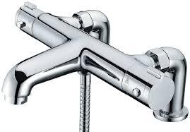 thermostatic bath taps fresh libra deck mounted thermostatic bath shower mixer tap
