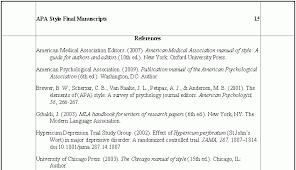 Apa Style Reference Page Dr Abel Scribe Quick Study Of Apa Style Reference Page For