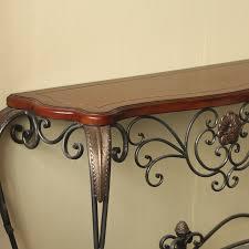 wrought iron and wood furniture. Decorative Wrought Iron Console Table And Wood Furniture E
