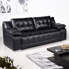 newham black leather sofa collection with all in one style bench seating